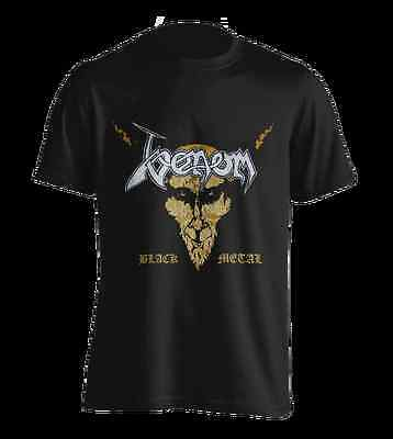 "Venom "" Black Metal "" ( Gold )  T-Shirt 106043 #"
