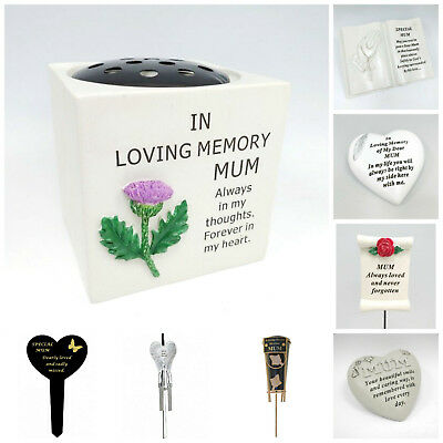 Mothers Day Memorial Plaques Mum Tributes Graveside Spikes, Remembrance Vase