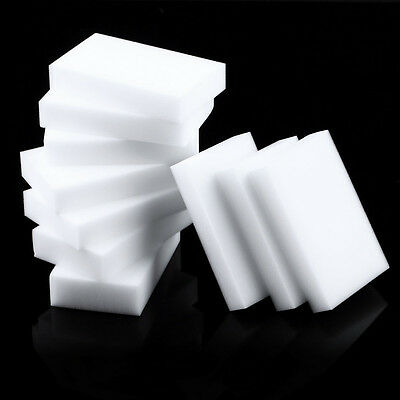 10 Pcs Magic Sponge Eraser Clean Cleaning Multi-functional Foam Cleaner White O~