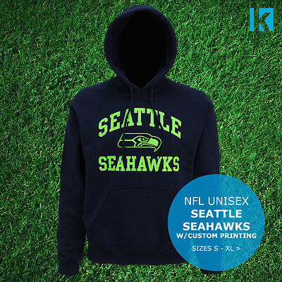 Seattle Seahawks Logo Official Hoodie USA NFL Super Bowl Football Unisex Top