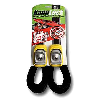 2 X Kanu Boat Surf Board Lock Reinforced Stainless Steel Tie Down Car Strap 13FT
