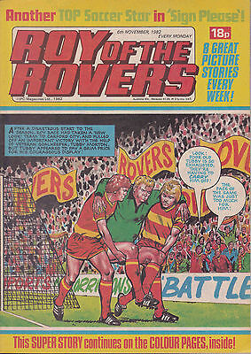ROY OF THE ROVERS 06-11-1982 Gary Bannister SHEFFIELD WEDNESDAY (Free Postage)