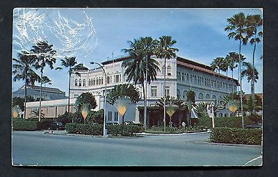 View of Raffles Hotel, Singapore. Posted 1954.