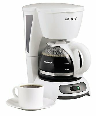 Mr. Coffee TF4 4Cup Switch Coffeemaker, White, New, Free Shipping