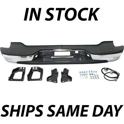 NEW Complete Chrome Rear Bumper for 2000-2006 Chevy Tahoe Suburban GMC Yukon XL