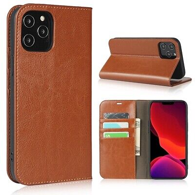 """iPhone 6S+/6+""""PLUS"""" Genuine Real Leather Book Folio Wallet Case Card Cover New"""