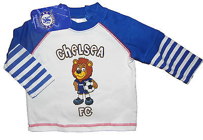 Baby Boys Chelsea Long Sleeve Top 3-6M 6-9M 9-12M Official Product 100% Cotton