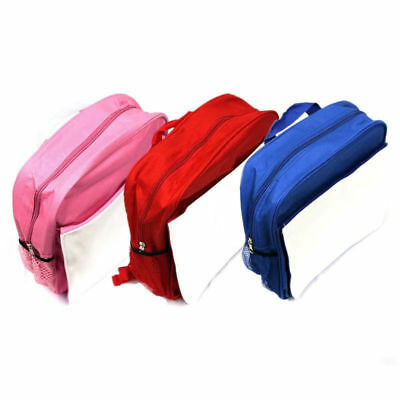 Small Sublimation Backpack Sports Bag Heat Press Red Blue Pink Rucksack Custom