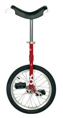 QU-AX Unicycle onlyone 16 red 19775 with aluminum rim