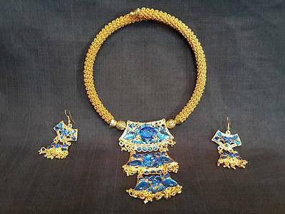 TRADITIONAL dance THAI JEWELRY NECKLACE earring accessories pattern cylinder NEW