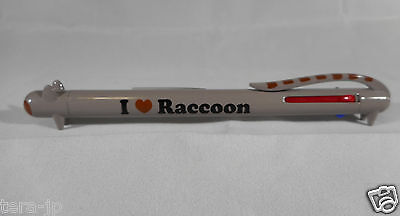 I Love Animal Ball Point Pen 3 Color (Raccoon) Japan
