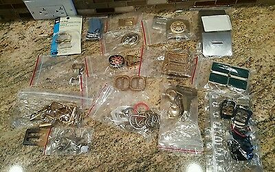 Lot of Vintage Belt Buckles Different Brands / Themes  shape and sizes assorted