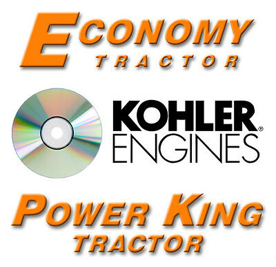 Power King, Economy Tractor Kohler Engine Manuals CD, 37 Manuals, 2616 Pages!