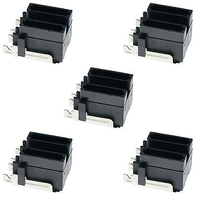 5 x Dual Standard Automotive Blade Fuse Holder