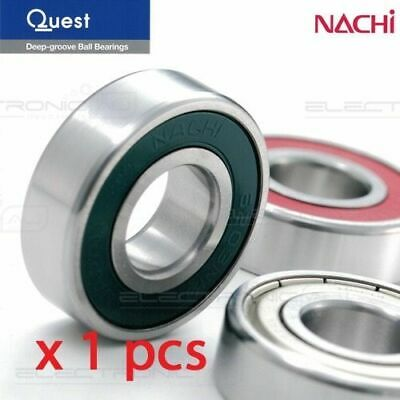 6201-2RS (Nachi 6201-2NSE9CM) Deep Groove Ball Bearing Two contact seal 12x32x10
