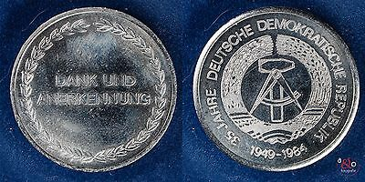 35 Jahre DDR 1949-1984 - DDR - Medaille Neusilber ca 24g 35mm