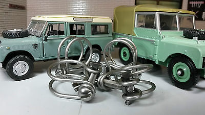 Triumph TR2 TR3 TR3a Smiths Heater 50306 Stainless Hose Clips Clamps Set