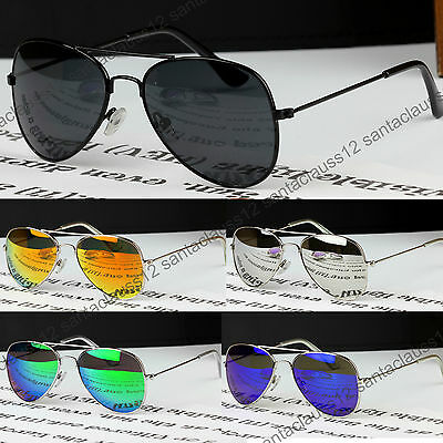 Classic Pilot Aviator Sunglasses KIDS Children's Girls Boys Metal Frame UV400