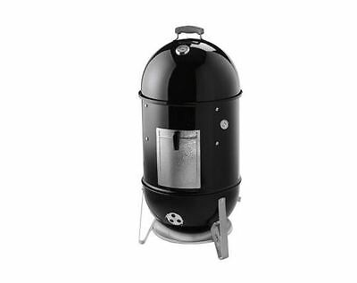 NEW 18-1/2 in. Outdoor Black Weber Smokey Mountain Cooker BBQ Smoker Grill