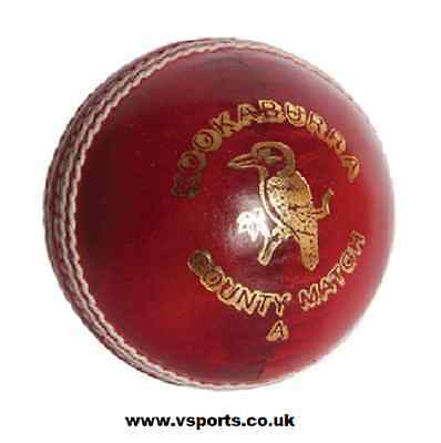 Kookaburra Ball County Match - Red Leather Size: Mens 5.5oz - Post Free in UK