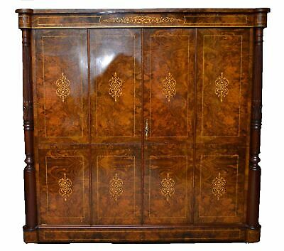 Inlaid Burr Walnut TV Plasma Hi Fi Stereo Cabinet