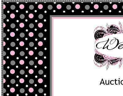 Black Pink White & Gray Dots eBay Auction Listing Template