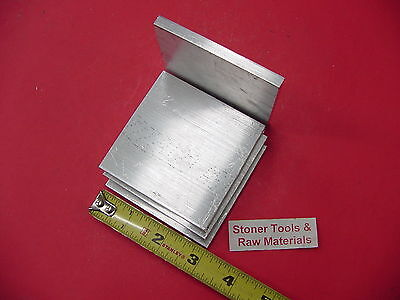"4 pieces 1/4"" X 3"" ALUMINUM 6061 FLAT BAR 3"" long T6511 SOLID Plate Mill Stock"