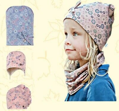 Baby Girls Toddlers Spring Autumn Cotton Elastic Beanie Hat Cap Size 0 - 4 years