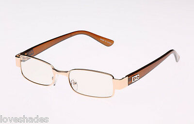 New Mens Womens DG Clear Lens Frames Designer Fashion Gold Optical RX Hot