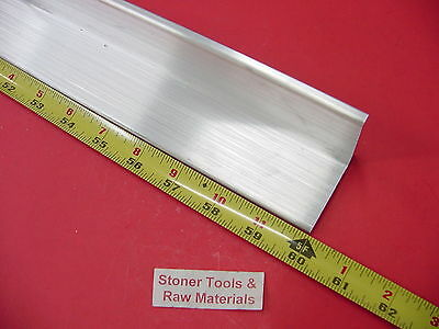 "2""x 2""x 1/4"" ALUMINUM 6061 ANGLE BAR 60"" long T6 Extruded Mill Stock .25"" Thick"