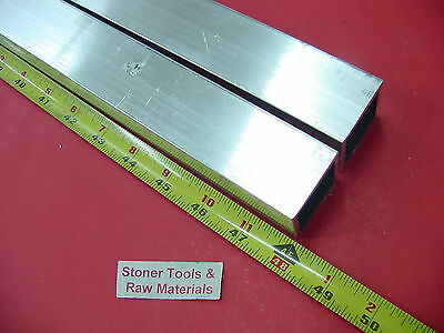 "2 Pieces 1-1/2""x 1-1/2""x 1/8"" Wall x 48"" Long ALUMINUM SQUARE TUBE 6063 T52"