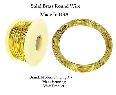 Brass Round Wire (HALF HARD ) 1/2 Lb. - Choose Gauge 12 To 26  / Spool or Coil