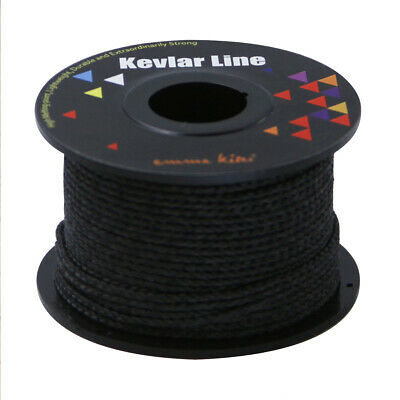 BLACK Roll 100ft 300lb Fiber Line Kevlar Compact Survival Cord Kites Fishing