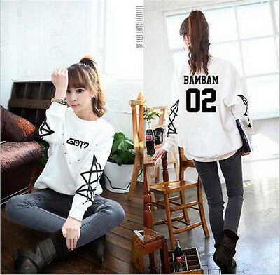 Kpop GOT7 Sweater Fly Unisex Hoodie Jackson Mark Bambam Pullover Sweatershirt
