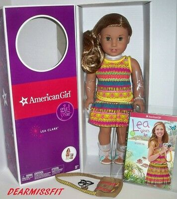"""American Girl Doll Lea Clark  - Girl Of The Year 2016 - New 18"""" With Box"""