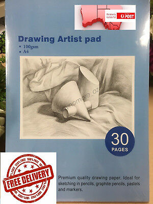 A4 Drawing Paper Art Artist Sketchbook Sketch Pad Journal Painting Pastels Draw