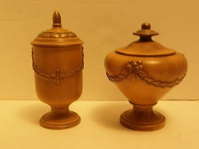 Lot Of 2 Vintage Haeger Usa  Ceramic Compote, Candy Dish Or Cookie Jar Bowls