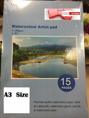 A3 Watercolour Paper Art Artist Sketchbook Sketch Pad Journal Drawing Painting