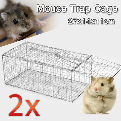 2X Humane Rat Trap Cage Live Animal Pest Rodent Mice Mouse Control Bait Catch