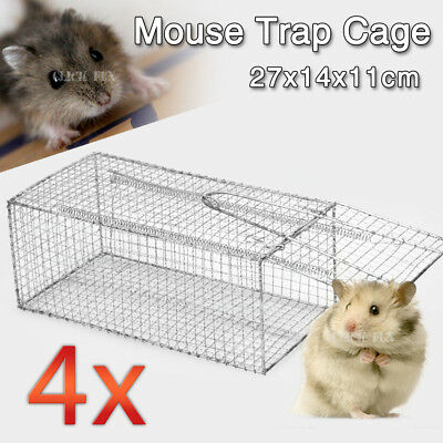 4X Humane Rat Trap Cage Live Animal Pest Rodent Mice Mouse Control Bait Catch