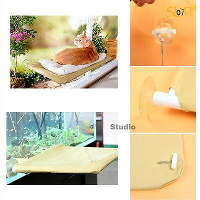 55x32cm Cat Window Mounted Bed Seat Pets Sunny Hammock Beds Cover Washable Home