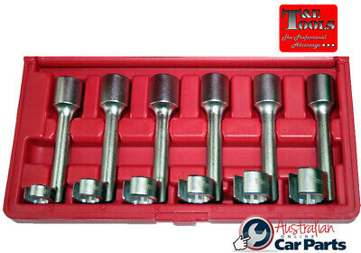 12 Point Crowsfoot Wrench Open Ended Ring Socket 6Pce Set T&E Tools CRW1200 NEW