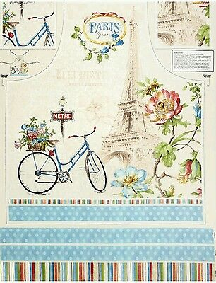 Paris Forever Apron Panel...new...in Stock....free Post. ..
