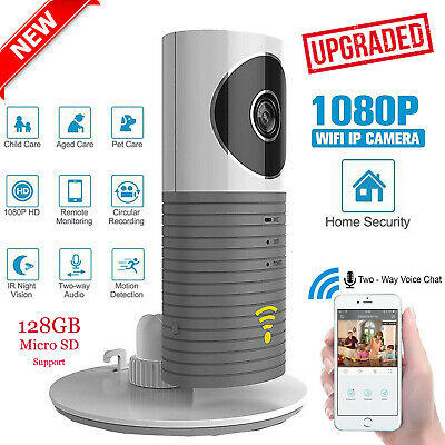 New Clever Dog Wireless Smart WiFi Home Security Camera 720p 90 Angle  Grey