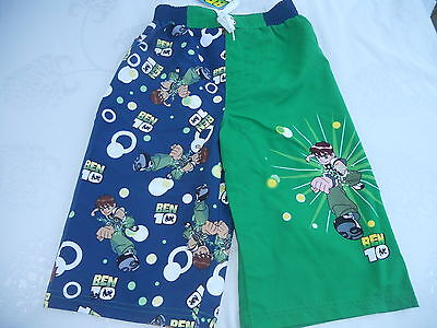 Boys Ben 10 board shorts   Size 4  5  6  7  8  10   BNWT