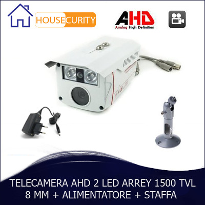 Telecamera Sorveglianza Ahd 8 Mm 1500 Tvl 2 Led Array Ccd Ir Pal