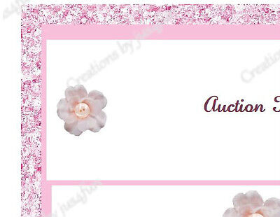 Pretty As A Button eBay Auction Template Listing Template