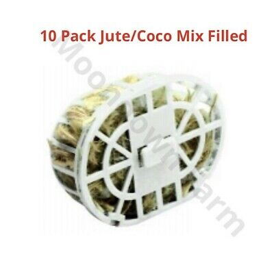 10 x Nesting Material Holders & Coco For Cage Aviary Finches, Canaries, Budgies