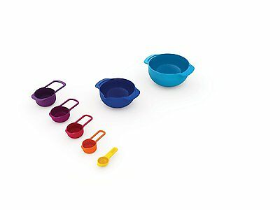 Joseph Joseph Nest 7 Plus Mixing Bowls Measuring Cups Prepation Set Organization