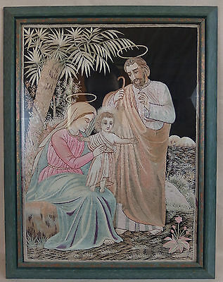 ancienne broderie religieuse